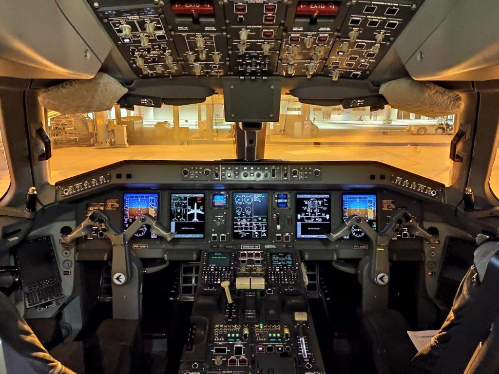 versão anterior do maior avião construído por uma empresa brasileira