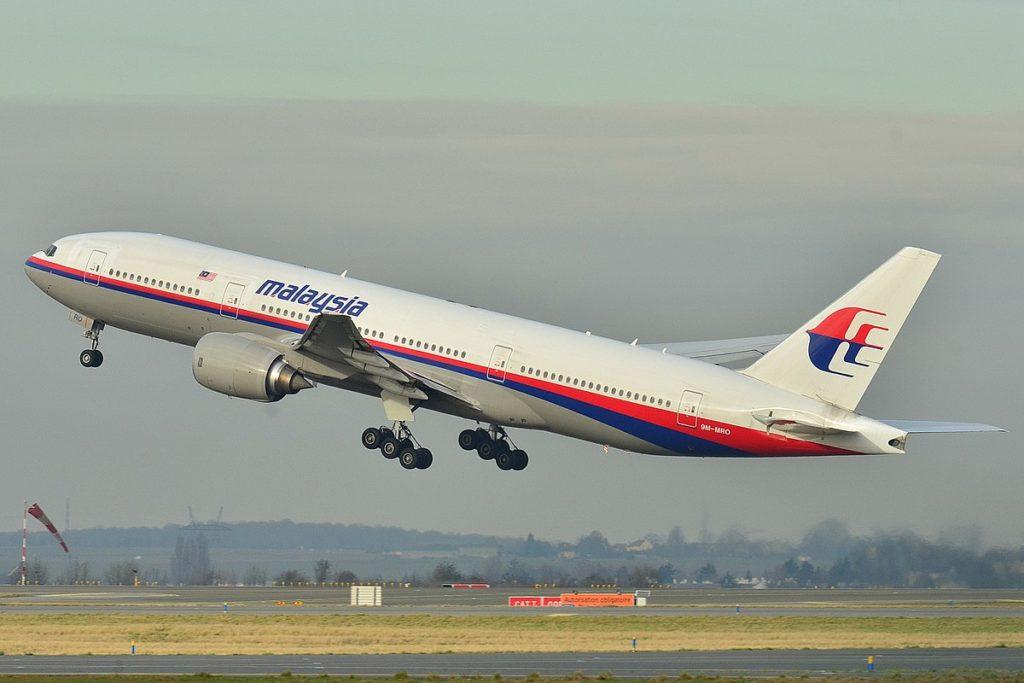 Malaysia MH 370, desaparecido em 2014.